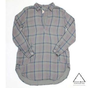 CP Shades Teton Tunic Plaid Flannel Pocket Top